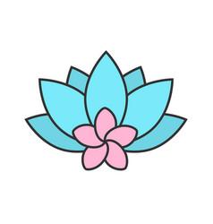spa salon flowers color icon vector image
