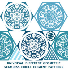 universal different seamless patterns tiling vector image vector image