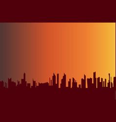 War torn city vector