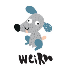 weirdo dog vector image