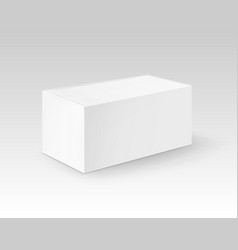 white blank cardboard rectangle take away vector image