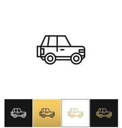 Car line sign or auto driving linear icon vector image vector image