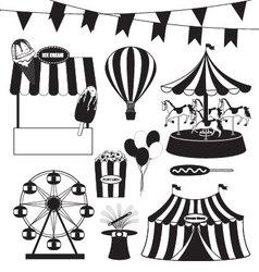 Fun Fair and Circus Collection vector image vector image