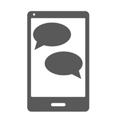 mobile chat icon simple vector image vector image
