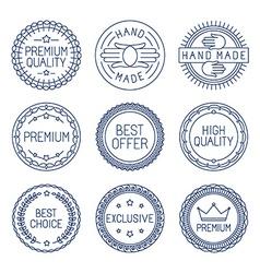 set of premium labels vector image vector image