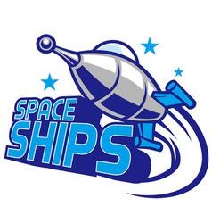 spaceship mascot design vector image