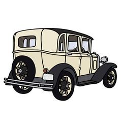 Vintage cream limousine vector image
