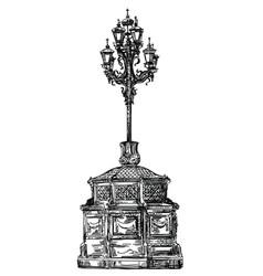 ancient lantern llustration vector image
