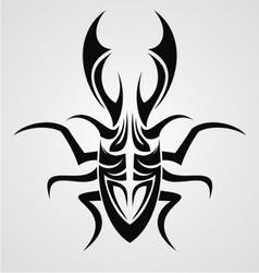 Beetle Tattoo Design vector image vector image