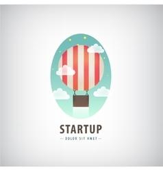 business start up logo Flying air ballon vector image vector image
