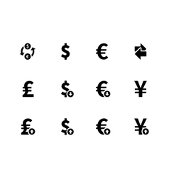 Exchange Rate icons on white background vector image vector image