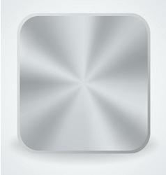 Metal button icon vector image vector image