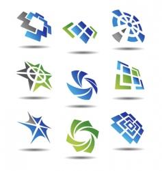 Set of abstract symbols vector