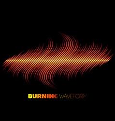Sharp fire waveform vector image