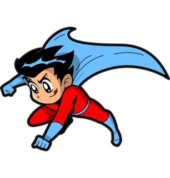 Anime Manga Boy Superhero vector image vector image