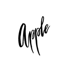 apple postcard lettering vector image vector image