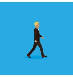flat of businessman vector image vector image