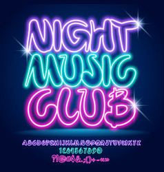 neon colorful poster night music club vector image