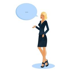 Speaking business woman vector image vector image