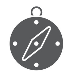 compass glyph icon navigator and travel vector image