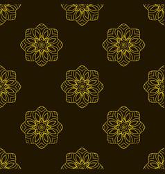 doodle seamless image mandala circular patterns vector image vector image