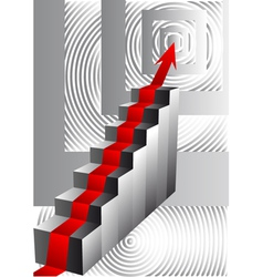 stairs with an arrow vector image vector image