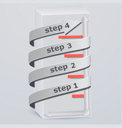 3d rectangle the arrow keys up vector image