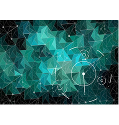 abstract polygonal space emerald and dark green vector image