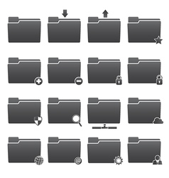 Basic Folder Icons Set vector