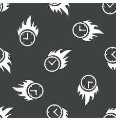 Burning clock pattern vector image