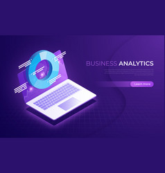 business analytics data analysis financial vector image