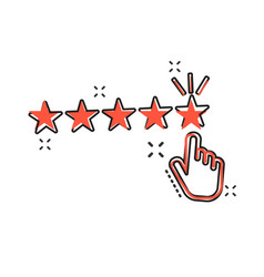 cartoon customer reviews user feedback icon in vector image