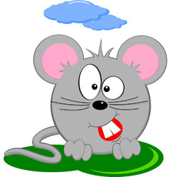 Cartoon Of Gray Fat Mouse vector