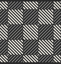 Checkered geometric seamless pattern with stripes vector