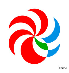 Coat arms ehime is a japan prefecture emblem vector