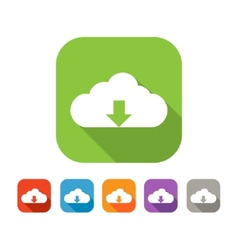 Color set of flat cloud upload icon vector