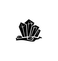 Crystal stone crystalline gem gemstone flat icon vector