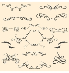 Curlicues vintage ornament vector