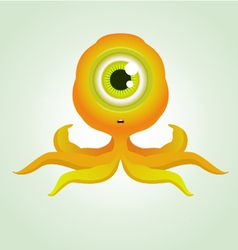 cute octopus monster vector image