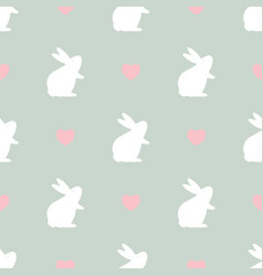 easter seamless pattern with bunny vector image