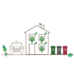 ECO FRIENDLY FAMILY vector image
