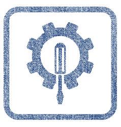 Engineering fabric textured icon vector