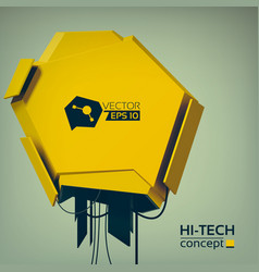 Engineering hi-tech design concept vector