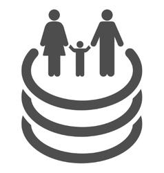 Family Portal Flat Icon vector