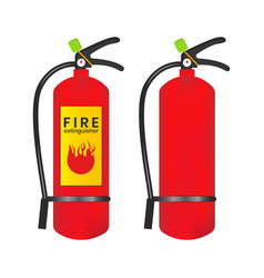 Fire extinguisher icon is isolated on a white vector
