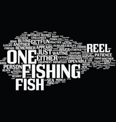 fish for reel text background word cloud concept vector image