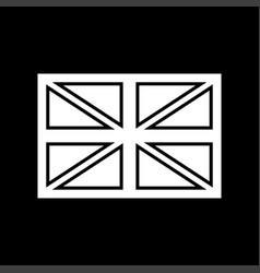 flag united kingdom white color icon vector image
