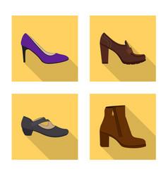 footwear and woman logo vector image