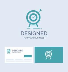 goal hit market success target business logo vector image