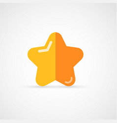 Gold rating star vector
